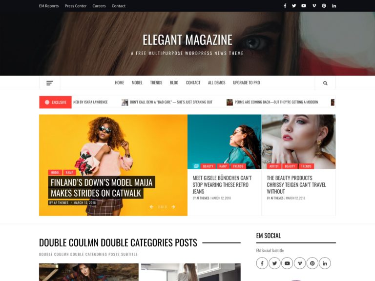 The Elegant Magazine theme.