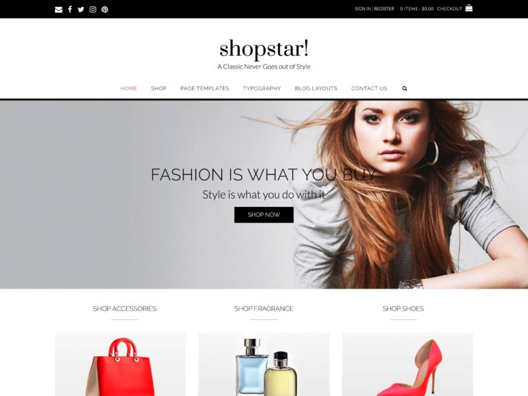 The Shopstar theme.