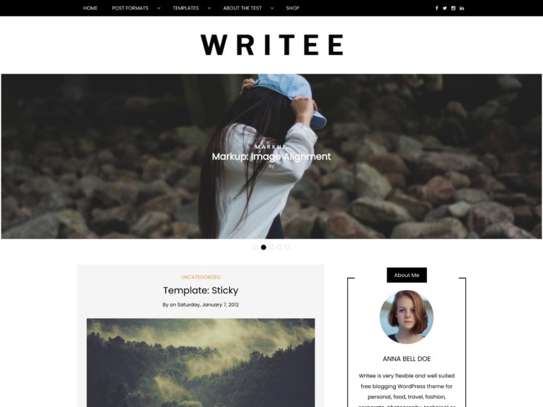 The Writee theme.