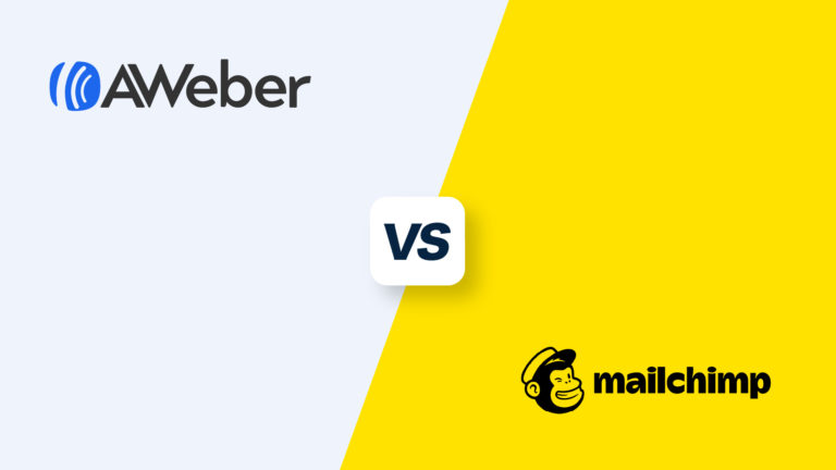 AWeber vs Mailchimp, featured image