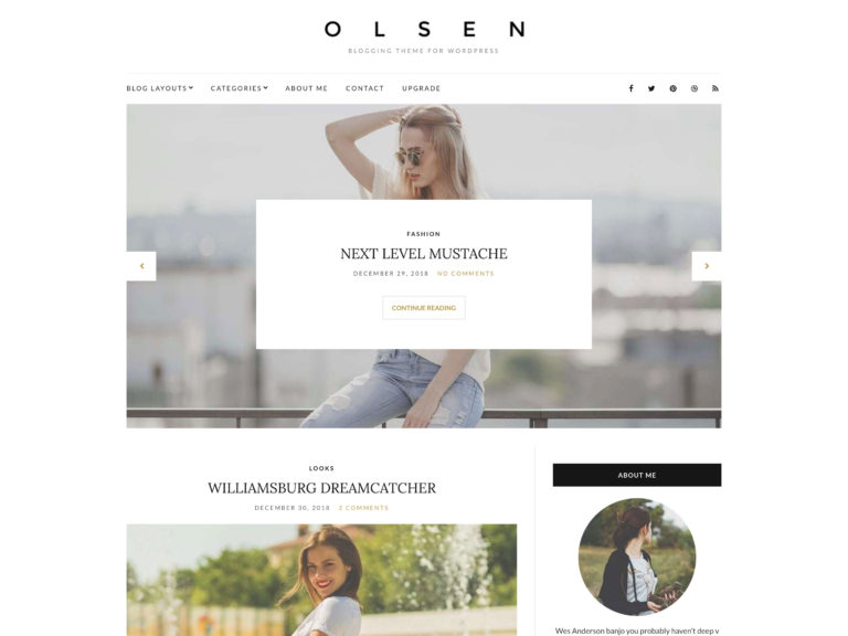 The Olsen Light theme.