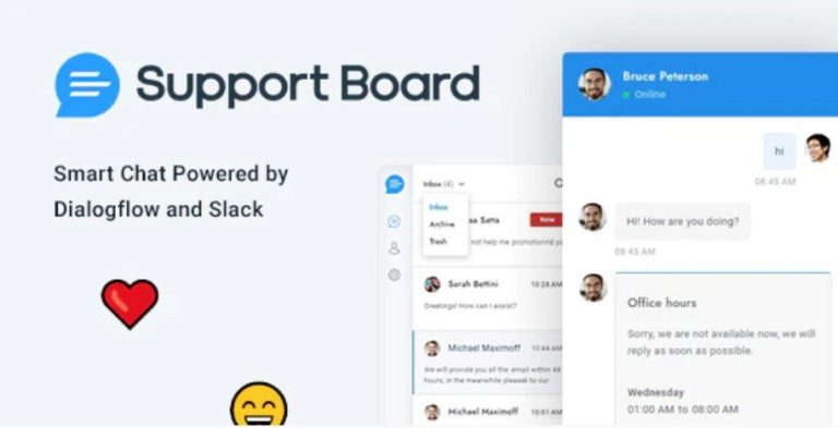 Support Board Live chat plugin