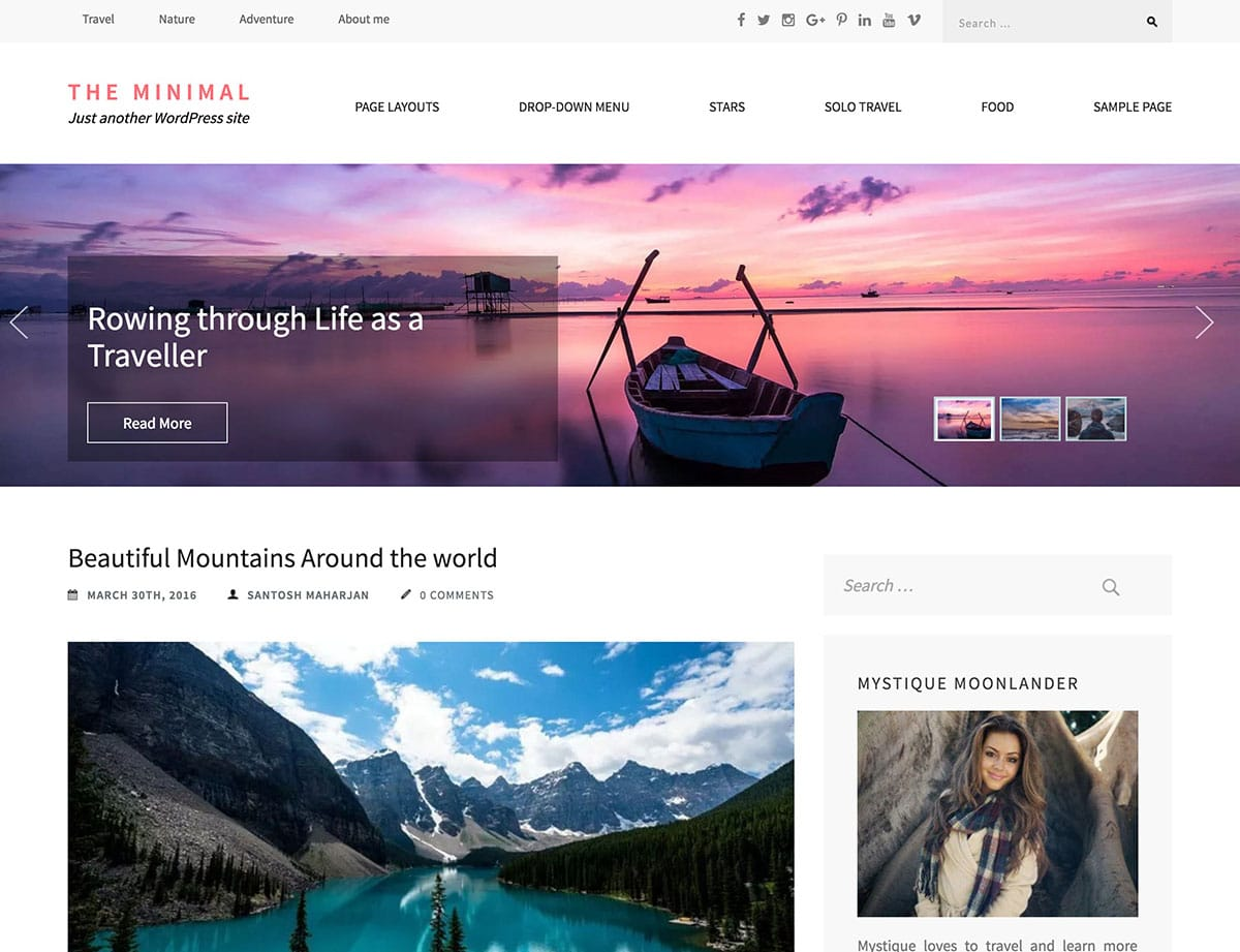 the-minimal-wordpress-blog-theme