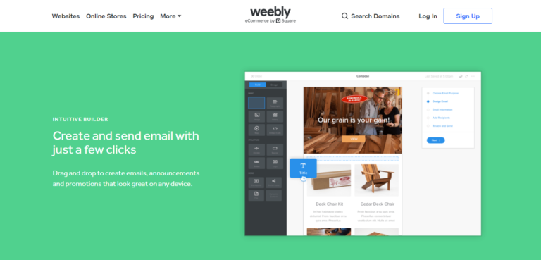 Weebly marketing features