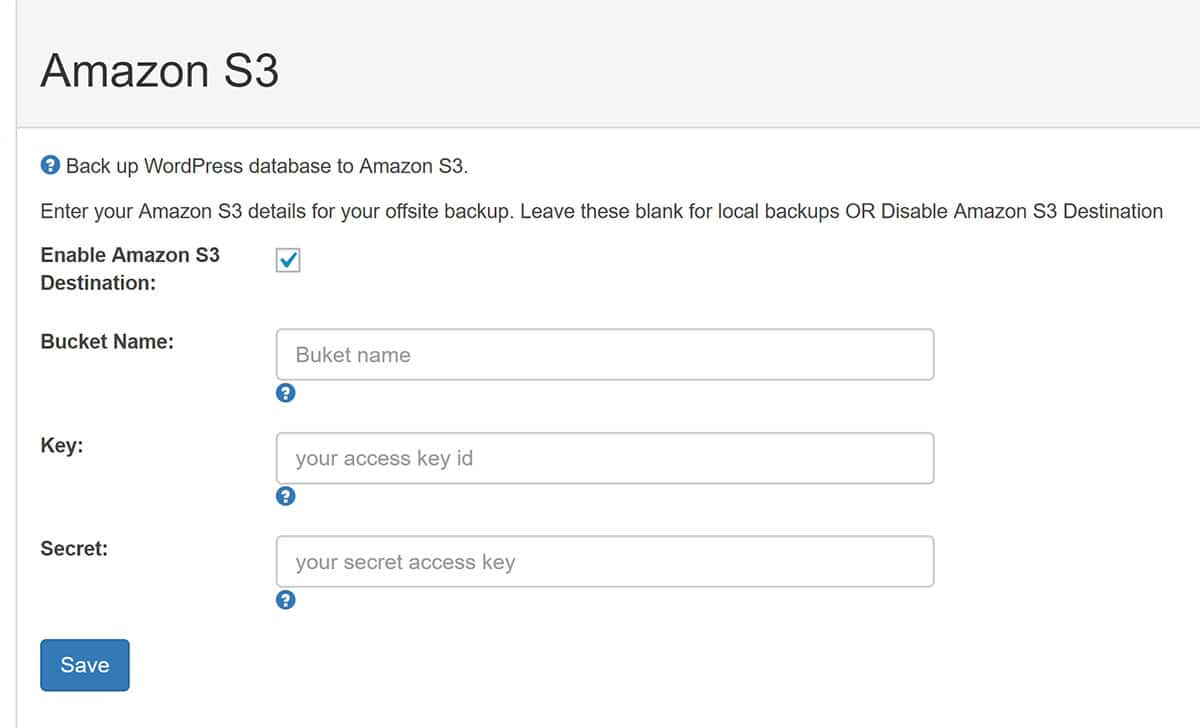Amazon S3 is Supported